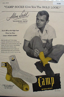 Camp Hosier and Alan Ladd Ad 1948