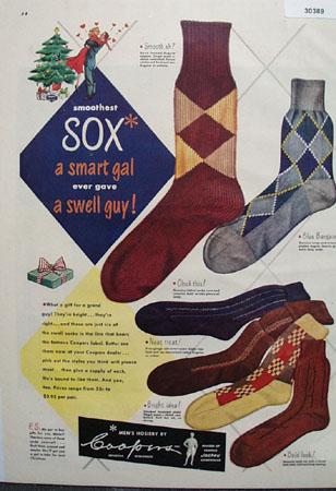 Coopers Mens Hosiery Christmas Ad 1948