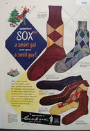 Coopers Mens Hosiery Christmas Ad 1948