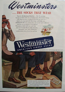Westminster Socks That Wear Ad 1948
