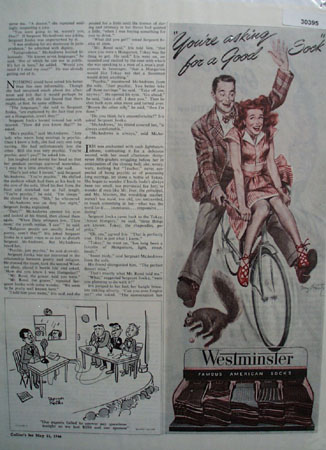 Westminster Asking For Good Sock Ad 1946