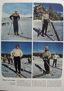 Design For Skiing And Gary Cooper Ad 1948