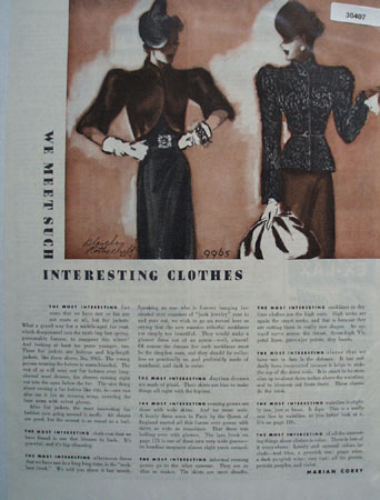 We Meet Most Interesting Clothes Article 1938
