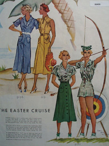 The Easter Cruise Ladies Dress Fashions Ad 1937