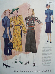Dedicated Dresses Ad 1937  This is a March 1937