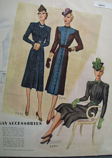 Gay Accessories And Ladies Fashion Dresses Ad 1938