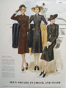 Alls Square in Check And Plaid Ladies Dresses Ad 1938