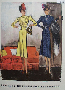 Jewelry Dresses for Afternoon Ad 1938