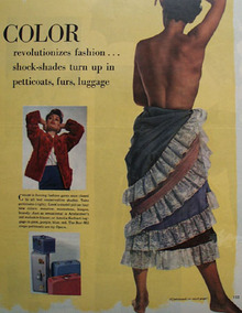 Color Revolutionizes Fashion Ad 1949