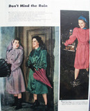 Dont Mind The Rain Modeled By Actresses Ad 1945