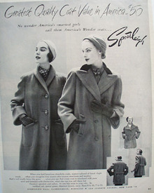 Sportleigh Ladies Coats Ad 1950