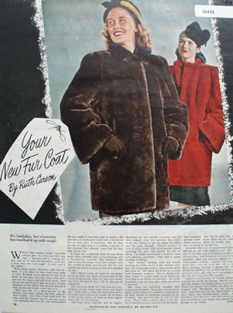 Your New Fur  Coat By Ruth Carson Ad 1945