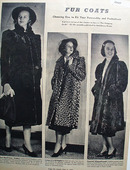 Fur Coats Choosing One Ad 1938