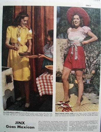 Jinx Falkenburg Goes Mexican Ad 1944