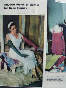 Gene Tierney 15,000 in Clothes Ad 1944