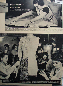 Clothes For Duchess of Windsor Ad 1938