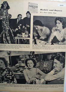 Mainbocher Models And Buyers Ad 1938
