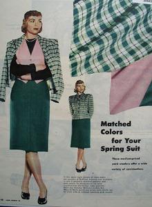 Dorothy McGuire Hoffman Woolens Ad 1946