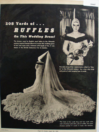 Ronald Morrell 208 Yards of Ruffles Ad 1938