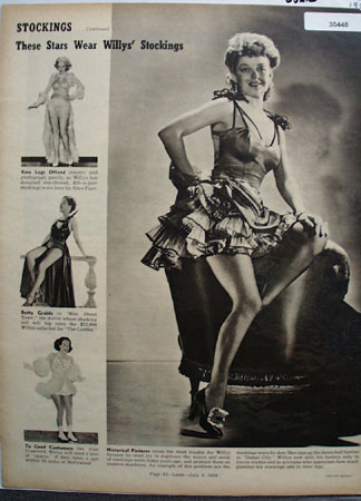 Willys Stockings Worn By Movie Stars Ad 1939