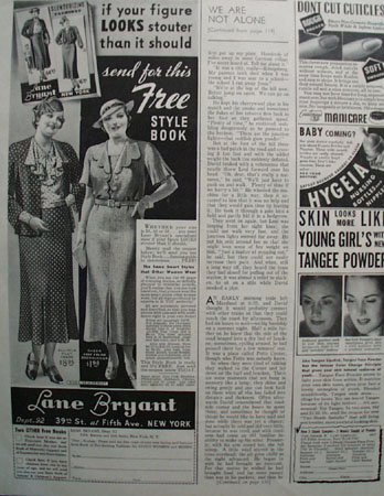 Lane Bryant Send For Free Style Book Ad 1937