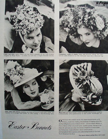 Easter Bonnets by Designers Ad 1948