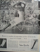 Van Raalte Gloves Stockings Lingerie Ad 1956
