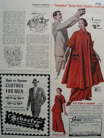 Jonas Shoppes Duster Robe Set Ad 1953