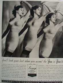 Hickory Foundation Garments For Woman Ad 1938