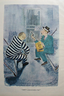 Cartoon by Garrett Price In Prison 1947