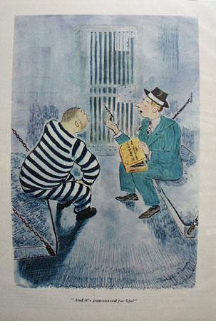 Cartoon by Garrett Price In Prison 1947