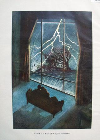 Cartoon by E Simms Campbell Lightning 1950