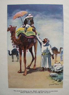 Cartoon by Garrett Price Man on Camel 1949