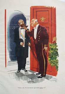 Cartoon by E Simms Campbell White Tie 1948