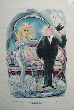 Cartoon By Shermund Man With Cane And Top Hat 1948