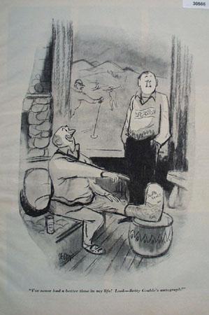 Cartoon By Dedini Broken Foot 1949