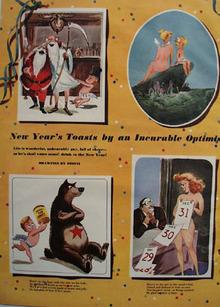 Cartoons by Dedini New Years Toasts 1950