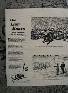 Cartoon by Punch Magazine From England 1949