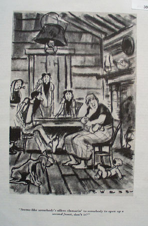 Cartoon By P Webb Inside The House 1943