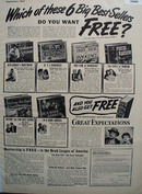Book League of America Great Expectations Ad 1947