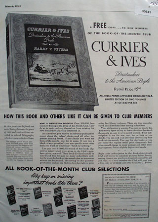 Book Of Month Club Currier And Ives Ad 1943