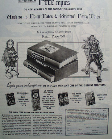 Book Of Month Club Grimms Fairy Tales Ad 1946