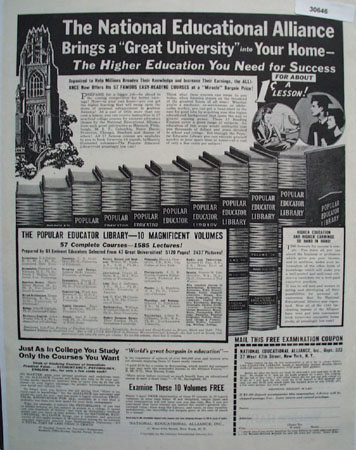 National Educational Alliance Into Your Home Ad 1946