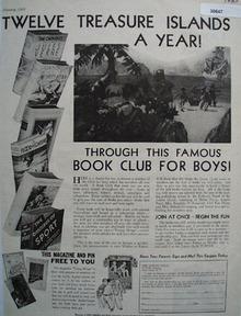 The Junior Guild Book Club for Boys Ad 1933