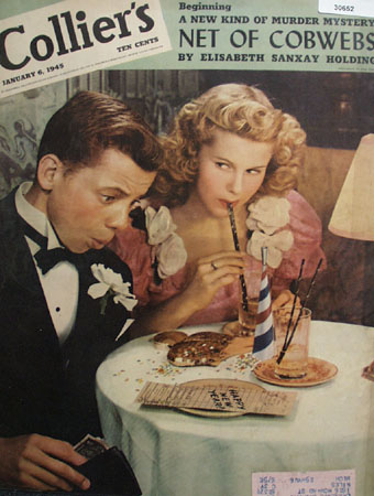 Colliers Magazine Cover Jan 1945 Prom Night 1945