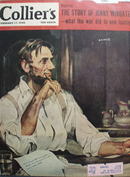 Colliers Magazine Cover Abe Lincoln Feb 1945