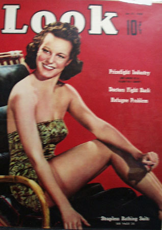 Look Magazine Cover Girl In Bathing Suit 1939