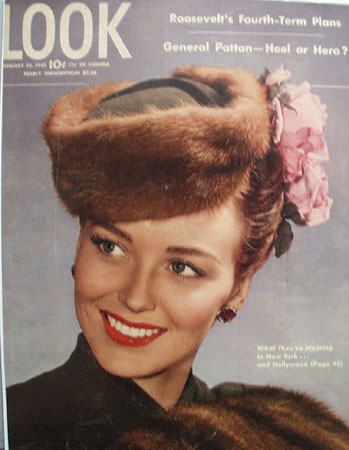 Look Magazine cover Lady In Hat 1945