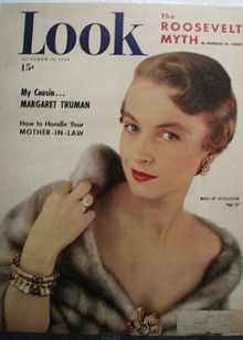 Look Magazine Lady in Fur Cape 1949
