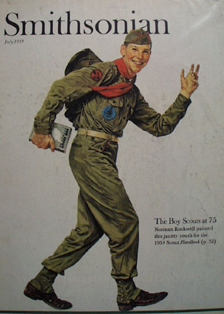Smithsonian Magazine cover Boy Scout 1985